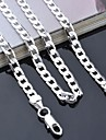 "Lureme®925 Sterling Silver Plated 4mm Link Chain Necklace 16-24""L"