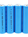 5000mAh 18650 batterij (4 stuks) + 4 stuks / Lot hard plastic Batterij Storage Box voor 18650 batterij