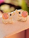 Fashion Elephant Shape Gem Stud Earrings(1 Pair)