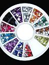 600pcs 12colours форму звезды акриловые стразы колеса украшение искусства ногтя