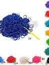 BaoGuang®(600 pcs/pack)Pure Color Rainbow Color Loom Rubber Band (12pcs S Hook,1pcs Crochet Hook)