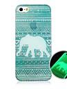 patron de elefante despues de fluorescencia caso trasero duro sunniness para el iphone 4 / 4s