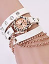 Women Watch Bohemian Rhinestone Chain Leather Strap