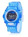 Детская экономически эффективное подарков Спорт Стиль прозрачный цифровые наручные часы (разных цветов)
