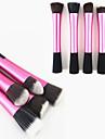 1PCS Rose Nylon Hair Aluminium Handle Makeup Blusher/Foundation/Powder Brush(Random Type,17x3x2cm)