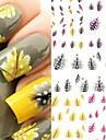 4 stuks veer nagel stickers