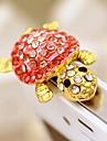 tortue alliage de zircon en forme de bouchon anti-poussiere (rose)