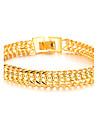 Прохладный Властного 18 К Золотые украшения Супер Классический Мальчики Браслет Текстура