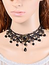 Black Choker Necklaces / Collar Necklaces / Statement Necklaces / Vintage Necklaces Lace Wedding / Party Jewelry