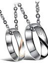 Ожерелье Ожерелья с подвесками Бижутерия Свадьба / Для вечеринок / Повседневные Модно Титановая сталь Серебряный 1шт Подарок