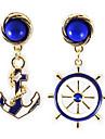 Fashion Navy Anchor  Pattern Earrings