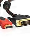 1м 3.28ft HDMI v1.4 с DVI 24 + 1 м / м кабель для PS3