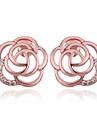 Boucle Forme de Fleur Boucles d\'oreille goujon Bijoux Mariage / Soiree / Quotidien / Decontracte Plaque or Femme Rouge Rose
