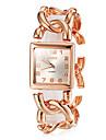 orologio stile semplice fascia d\acciaio quadrante piazza braccialetto delle donne (colori assortiti)