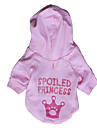 Cat / Dog Hoodie Pink Dog Clothes Spring/Fall Letter & Number / Tiaras & Crowns Fashion DroolingDog
