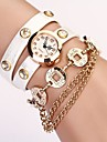 Women's White Round DIal Pu Cion Pendant Band Quartz Casual  Wristwatch Cool Watches Unique Watches