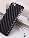 Super fibra de carbono fino de plastico de volta caso protetor para iPhone 6 Plus (cores sortidas)