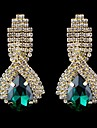 Earring Drop Earrings Jewelry Women Wedding / Party / Daily / Casual Crystal / Glass