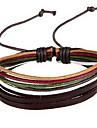 Ethnic As Present 20cm Women's Random Color Leather Leather Bracelet(Multicolor)(1 Pc)