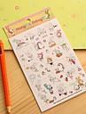немного дневник кролик наклейка (6 шт)
