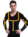 homem emagrecimento camisa roupa termica de manga longa shaper barriga barriga firme busto de nylon preto ny102