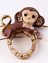Lureme®Fashion Crystal Little Monkey Elastic Ring