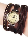 Women's Vintage Long Strap Style Leather Band Quartz Analog Bracelet Watch (Assorted Colors) Cool Watches Unique Watches