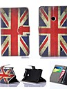 British Flag PU Leather Full Body Case with Card Slot for Nokia Lumia N520