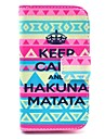 Crown Matata Pattern PU Leather Cover Case with Stand for Samsung Galaxy Ace 3 S7272/S7275