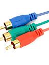 HDMI para 3RCA componente adaptador av cabo 1.5m 5 pes