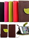 KARZEA® Leaf Mixed Colors TPU Leather Full Body with Stand and Stylus for iPhone 4/4S (Assorted Colors)
