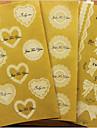 romântico de rendas adesivos transparentes (cores sortidas)