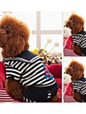 Dog Shirt / T-Shirt Red / Black / White Dog Clothes Winter Stripe