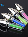 FJQXZ 4PCS Fluorescent Rod Type Cycling Tyre Wheel Neon Valve Lamp Including AG10 Button Battery(Assorted Color)