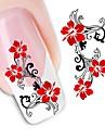 1 Стикер искусства ногтя Наклейка для переноса воды Цветы Свадьба макияж Косметические Ногтевой дизайн