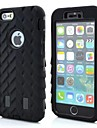 Tyre Tread Pattern Silicone Double Shells Design Case for iPhone 6(Assorted Colors)