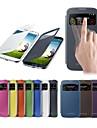 Smart View røre displayet pu læder taske til Samsung S4 9500 (assorterede farver)