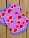 Cat / Dog Shirt / T-Shirt Rose Dog Clothes Winter Hearts Wedding / Cosplay