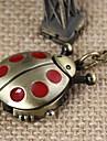 Unisex Red Beatles Alloy Analog Quartz Necklace Watch (Bronze) Cool Watches Unique Watches