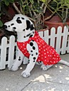 Robes - Chiens - Ete Rouge - en Coton - XS / M / XL / S / L