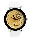 Unisex Romantic  Style PU Band Quartz Wrist Watch (Assorted Colors)