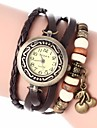 Women's Vintage Style Cherry Pendant Leather Band Quartz Analog Bracelet Watch (Assorted Colors) Cool Watches Unique Watches