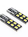 De-coded T10 2.5W 12-2835 SMD 6000K White Light Universal Car LED Width Reading Bulbs(DC12V 2PCS)
