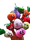 10PCS Fruit with Expression Plush Finger Puppets Kids Talk Prop