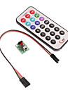 infravermelho modulo de controle remoto + receptor set hx1838 + controle remoto para (para arduino) (1xcr2025)