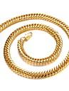 личность властная 18k золотое покрытие человек золотое ожерелье