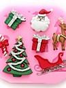 Рождественская елка оленей Claus подарок Fondant торт инструменты
