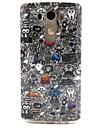 Black Comics TPU Soft Case Cover for LG G3