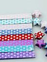 18 PC parpadean materiales origami estrella de la suerte luminosos (color al azar)