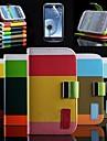 elegante cor brilhante pu corpo inteiro case suporte para samsung s3 i9300 (cores sortidas)